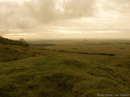 The chalk plateau of Salisbury Plain, Wiltshire, UK.