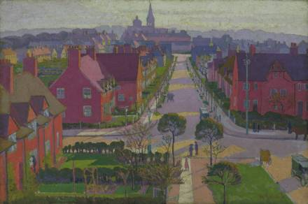 Hampstead Garden Suburb from Willifield Way c.1914 by William Ratcliffe 1870-1955