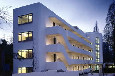 The Isokon Building, also known as the Lawn Road Flats, Hampstead, built 1933-34 by Canadian architect Wells Coates. Photo © BBC, London